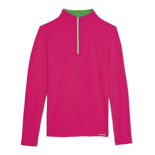 Dover Saddlery® Girls' CoolBlast® Quarter-Zip Long Sleeve Shirt