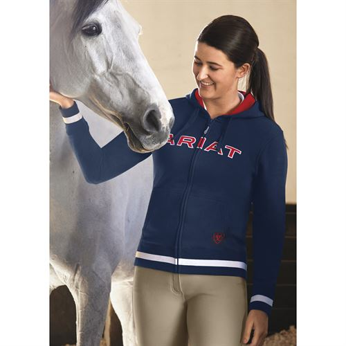 Ariat® Ladies' Logo Full-Zip Team Hoodie