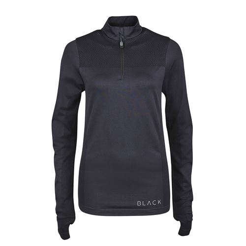 Dublin® Black Ladies' Jenny Half-Zip Competition Shirt