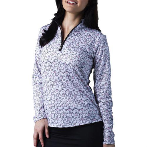 SanSoleil™ Ladies' SolCool® Long Sleeve Mock Neck Top