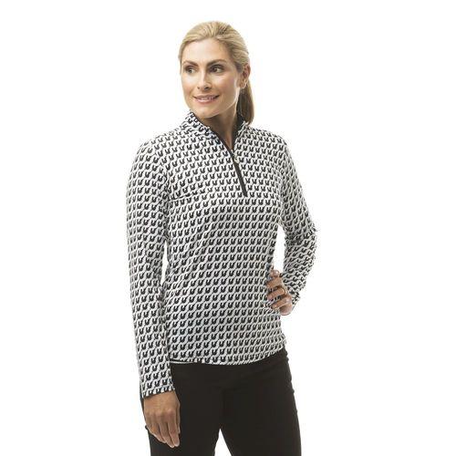 SanSoleil™ Ladies'SolCool® Mock Neck Print Top