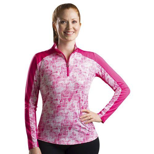 SanSoleil™ Ladies' SolCool® Mock Neck Vented Back Shirt