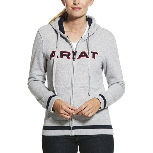 Ariat® Ladies' Logo Full-Zip Hoodie