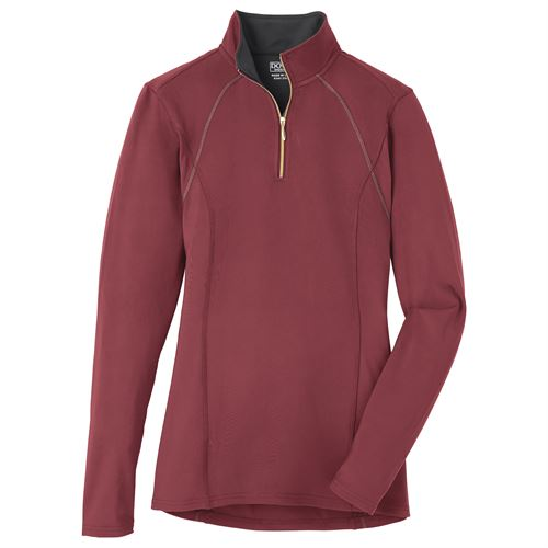 Dover Saddlery® Ladies' Quarter-Zip Solid Long Sleeve Top
