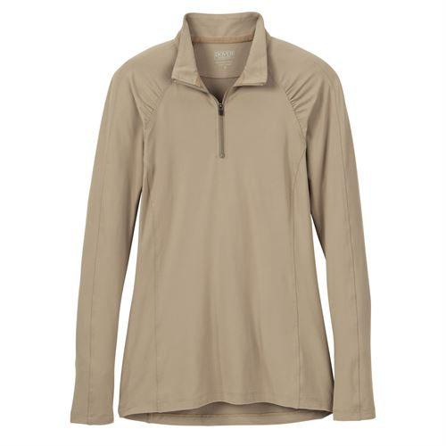 Dover Saddlery® Ladies' HeatBlast™ Quarter-Zip Long Sleeve Shirt