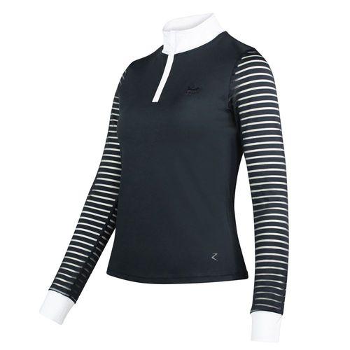Horze Maya Ladies' Long Sleeve Show Shirt with Mesh Sleeves
