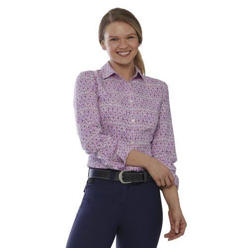 Dover Saddlery® Ladies' Stretch Tech Button-Down Print Shirt