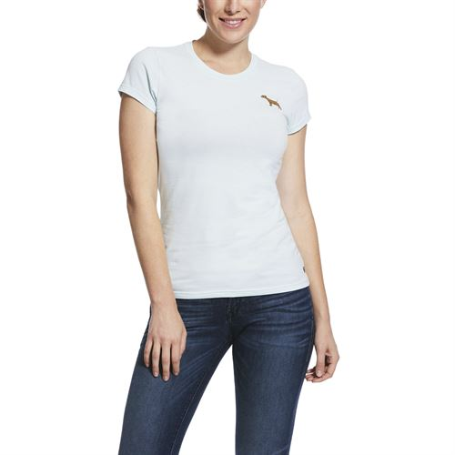 Ariat® Ladies'Embroidered Short Sleeve Tee