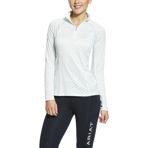 Ariat® Ladies' Sunstopper Quarter-Zip Long Sleeve Top