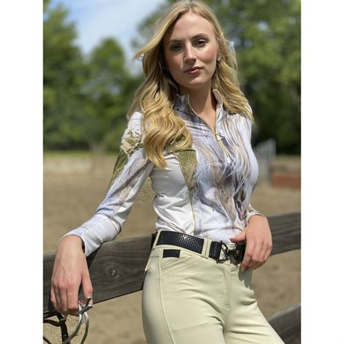 Arista® Ladies' Cheval de Mer Long Sleeve Quarter-Zip Sun Shirt