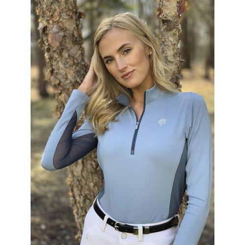Arista® Ladies' Two-Tone Quarter-Zip Long Sleeve Shirt