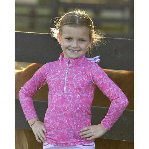 Belle & Bows Equestrian Girls'Sun Shirt