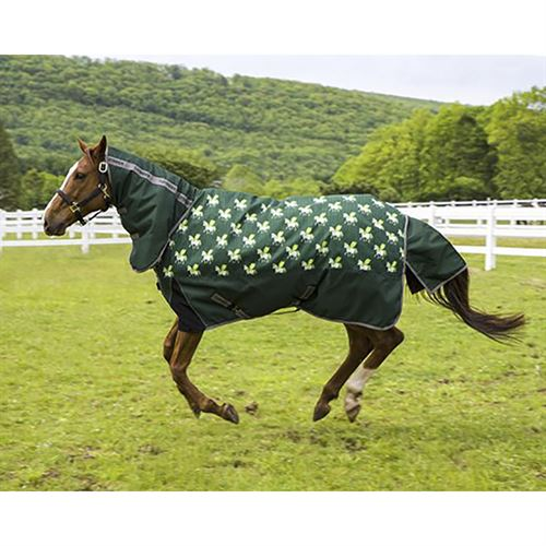 TuffRider® 1200D Ripstop 220 Gram Horse Print Combo Neck Two-Tone Turnout Blanket
