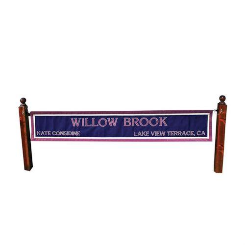 Walnut Post Standards for Custom Name Banner