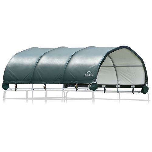 """ShelterLogic® 12 x 12 Corral Shelter - Powder Coated 1 5/8"""" Steel Frame"""