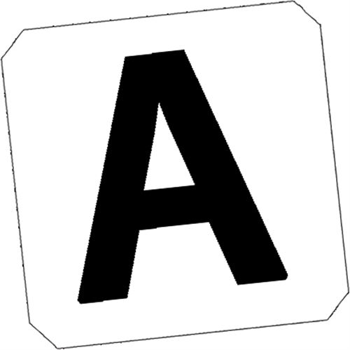 Vinyl Arena Replacement Letters Set of 8