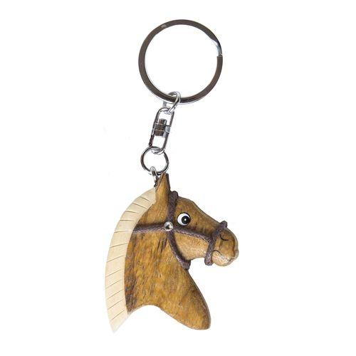 Waldhausen Wood Horsehead Key Chain
