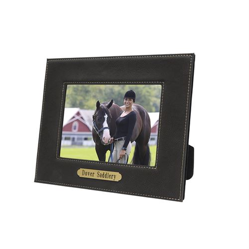 """Perri's® Leather Picture Frame with Nameplate - 5"""" x 7"""""""