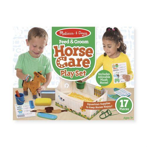 Melissa & Doug® Feed & Groom Horse Care Play Set