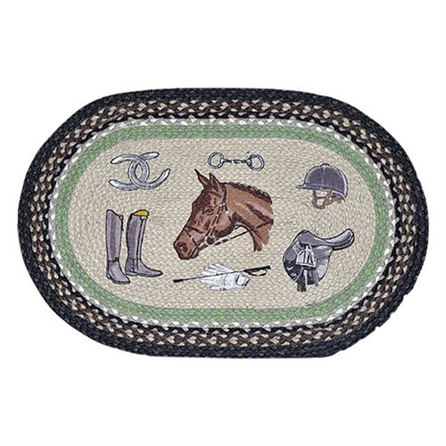 Equestrian Braided Oval Earth Rugs™