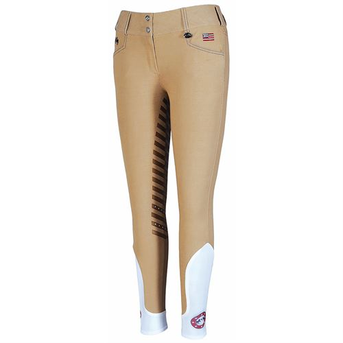 Equine Couture™ Ladies Bostonian XKP Silicone Extended Knee-Patch Breech