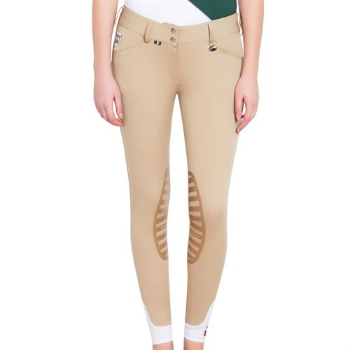 Equine Couture™ Ladies Fiona Silicone Knee Patch Breeches