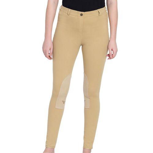 TuffRider® Ladies Cotton Pull-On Knee-Patch Plus Breech