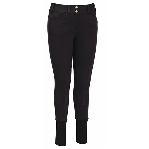 TuffRider® Ladies Soft Shell Wide Waistband Knee-Patch Breech