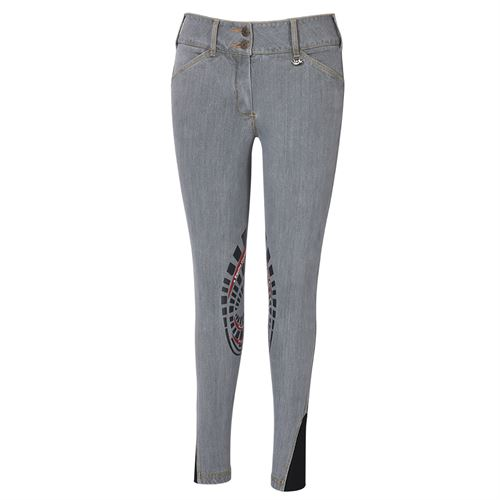Equine Couture™ Calabasas Printed Silicone Patch Denim Jeans