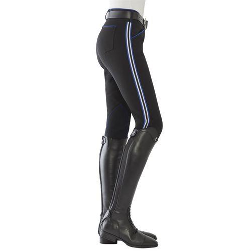 Dover Saddlery® Ladies' Wellesley Varsity Stripe Knee-Patch Breech