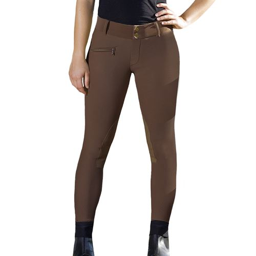 Devon-Aire® Ladies' All-Pro Ribbed Wide Waist Knee-Patch Breech