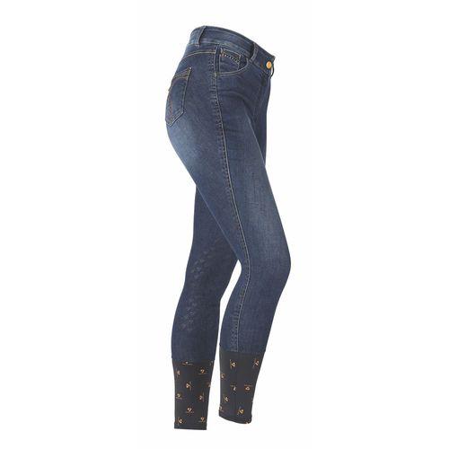 Shires Ladies' Aubrion Putney Denim Knee-Patch Breech