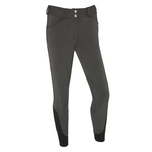 Dover Saddlery® Ladies' Wellesley Anthracite Knee-Patch Breech