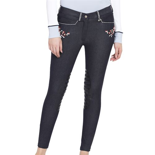 Equine Couture™ Ladies' Alice Denim Embroidered Breech