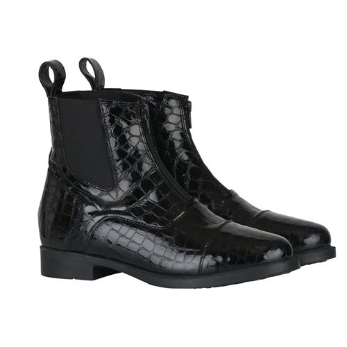 Horze Ladies' Front-Zip Paddock Boots with Croco Pattern