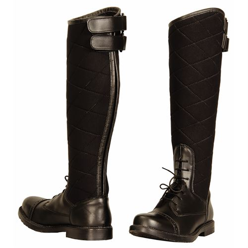 TuffRider® Ladies Alpine Quilted Field Boots in Synthetic Leather