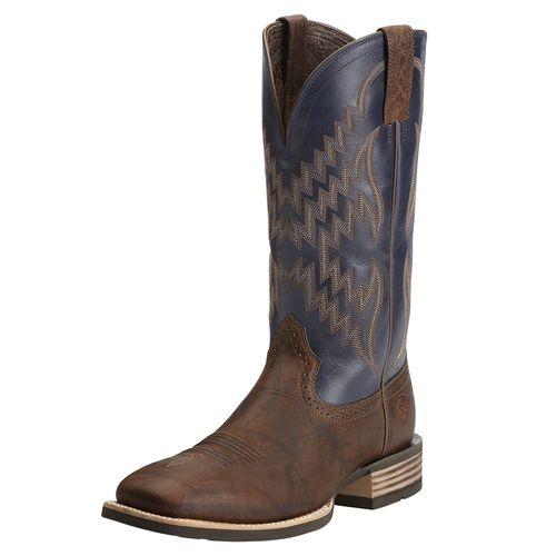 Ariat® Men's Tycoon Western Boots in Bar Top Brown/Arizona Sky
