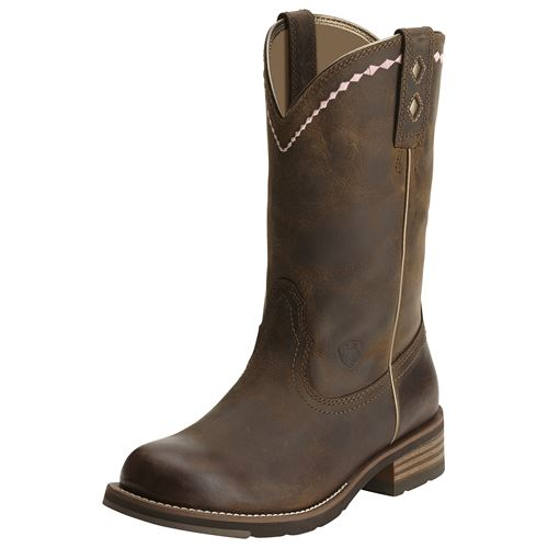 Ariat® Ladies' Unbridled Roper Western Boots in Distressed Brown