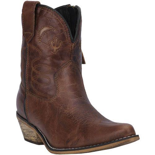 Dan Post® Dingo Ladies' Adobe Rose Leather Booties
