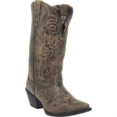 Dan Post® Laredo® Ladies' Vanessa Wide Calf Leather Boots in Black