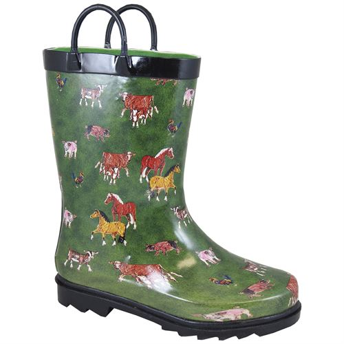 Smokey Mountain Boots Children's Round Up Rubber Boots