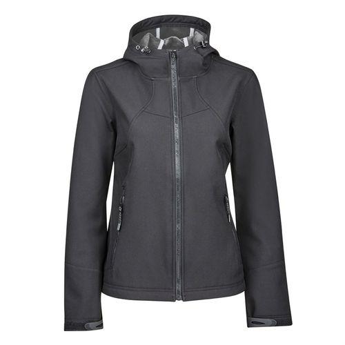 Dublin® Black Ladies' Sam Soft Shell Hoodie Jacket