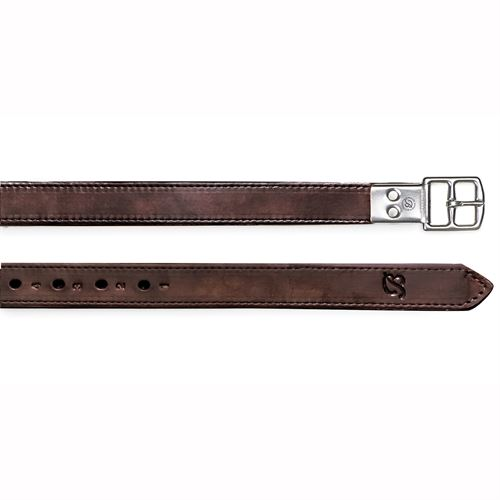 Bates Stirrup Leathers in Heritage Leather