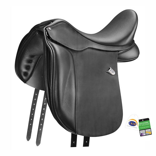Bates WIDE Dressage Saddle in Heritage Leather with (CAIR®)