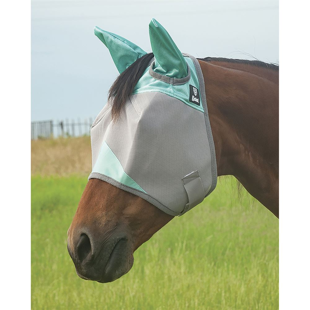 UV Protection F//C//P Cwell Equine Fine Mesh Zebra Print Fly Mask Ears /& Nose Full Face Cob