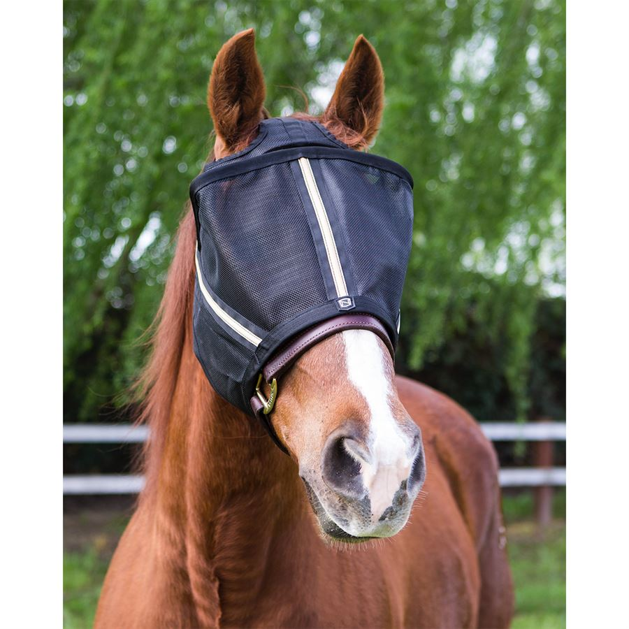X-Large Black Noble Outfitters Guardsman Fly Mask With Ears