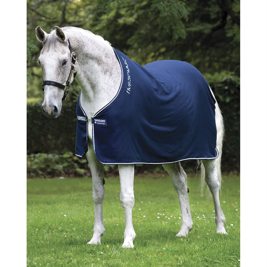 "6/'9/"" Cotton Cooler Rug Grey//White Horseware Rambo Cotton Cooler Standard Neck"