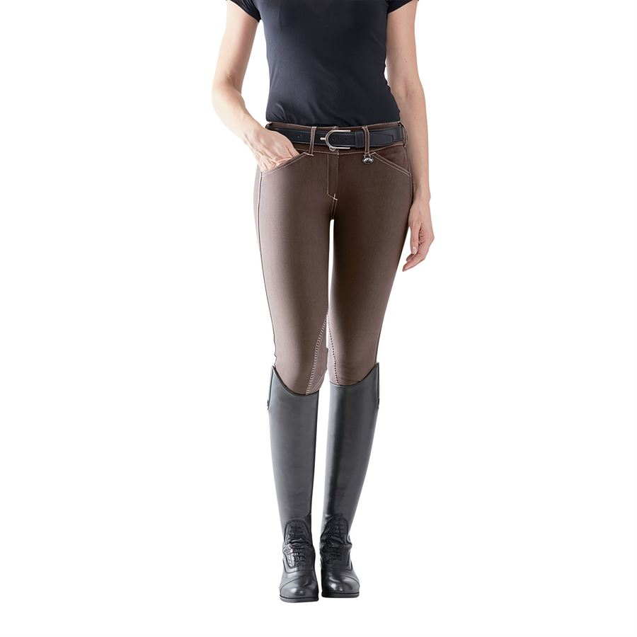 Equine Couture Ladies Sportif Natasha Knee Patch Breeches with CS2 Bottom