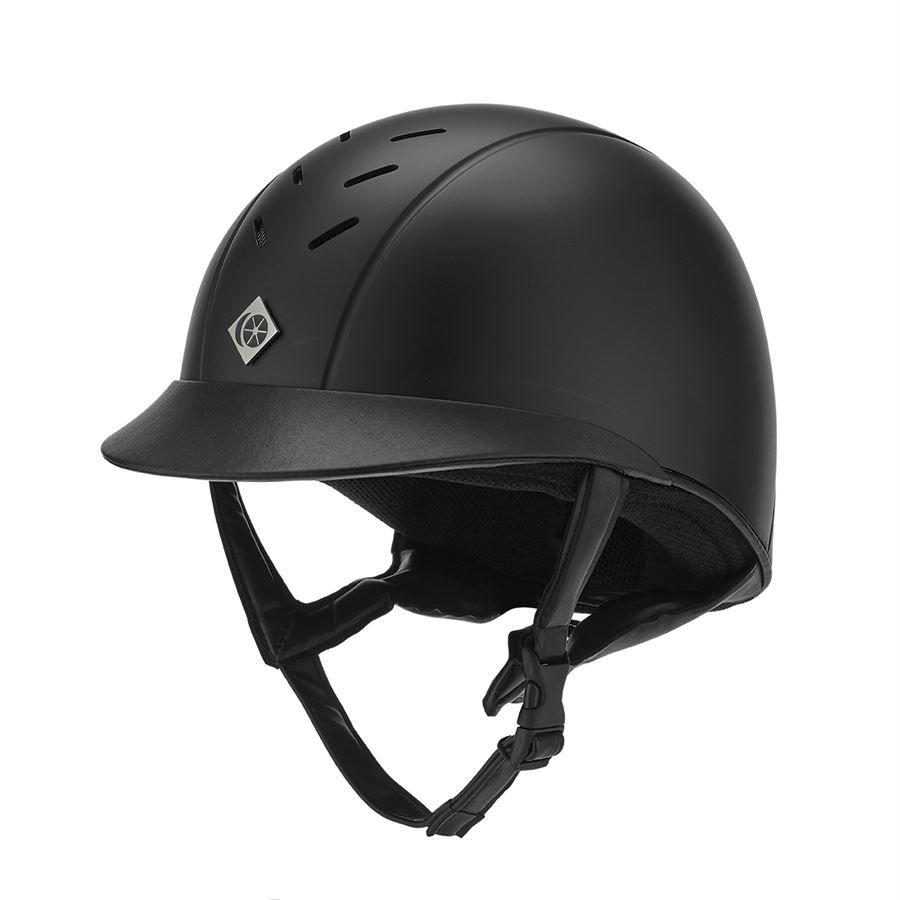 Black Charles Owen ROUND AYR8 Helmet Different Sizes SALE!