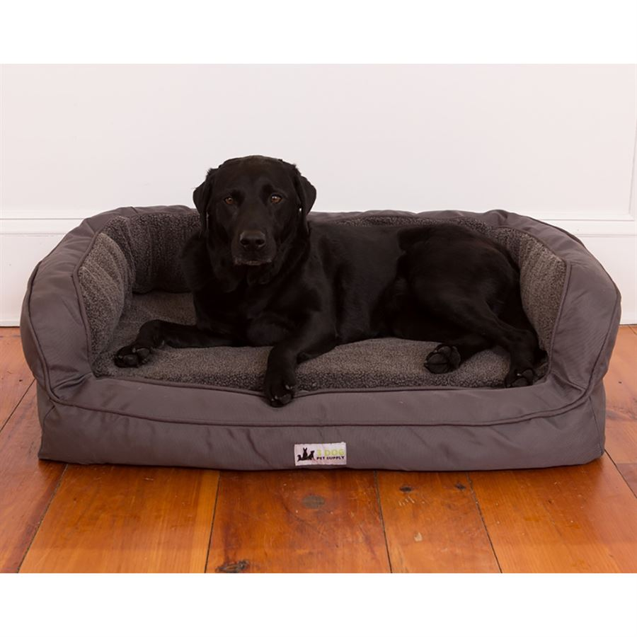 3 Dog Pet Supply Ez Wash Fleece Headrest Memory Foam Dog Bed Dover Saddlery